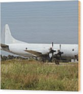 A Hellenic Navy P-3 Orion Aew Aircraft Wood Print