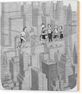 You See Where Sixth Avenue Meets Broadway Wood Print