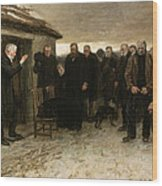 A Highland Funeral Wood Print