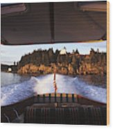A Hinckley Picnic Boat Travels Wood Print