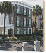 A Historic Home On The Battery - Charleston Wood Print