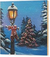 A Holiday Carol Wood Print