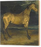 A Horse Frightened By Lightning Wood Print