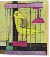 A House And Garden Cover Of A Bird In A Cage Wood Print