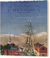 A House And Garden Cover Of A Model Ship Wood Print
