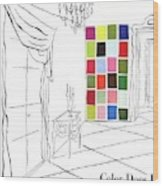 A House And Garden Cover Of Color Swatches Wood Print