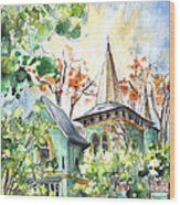 A House In Our Street In Budapest Wood Print