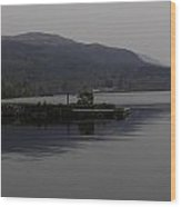 A Jetty Pushing Out Into The Waters Of Loch Ness In Scotland Wood Print