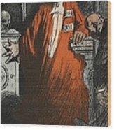 A Judge In Full Garments, Illustration Wood Print