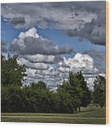 A July Cold Front Rolling By Wood Print