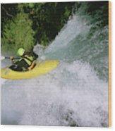 A Kayaker Running A Beautiful Spirit Wood Print