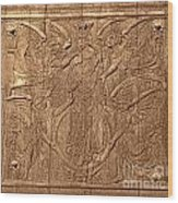 A King Carved In Wood Wood Print