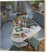 A Kitchen Designed By Ralph & Jane Bonnell Wood Print