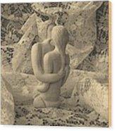 A Lace Kiss Wood Print