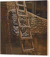 A Ladder's Rung Wood Print