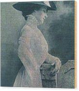 A Lady Ponders Wood Print