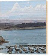 A Lake Mead Marina Wood Print