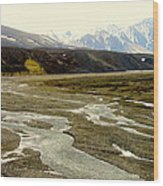A Land Of Mountains Rivers And Valleys Wood Print