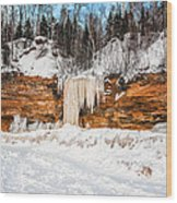 A Land Of Snow And Ice Wood Print