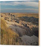 A Landscape Image Of Badlands National Wood Print