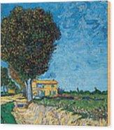 A Lane Near Arles Wood Print
