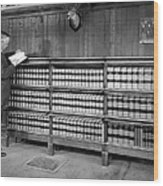A Lawyer In His Library Wood Print