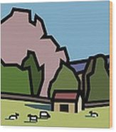 A Lazee Sunny Afternoon. Wood Print by Kenneth North