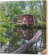 A Lazy River Day Wood Print