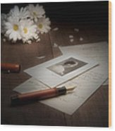 A Letter From Mary Still Life Wood Print by Tom Mc Nemar