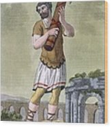 A Lictor, Bearer Of The Fasces Wood Print