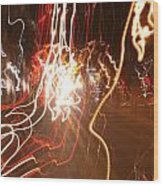 A Light Dance In Old Town Wood Print