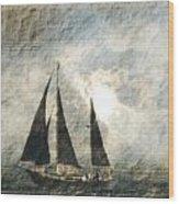 A Light Through The Storm - Sailing Wood Print