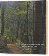 A Light Unto My Path Wood Print