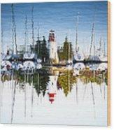A Lighthouse Wood Print