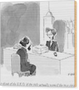 A Literary Agent Talks To Charles Dickens Wood Print