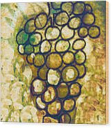 A Little Bit Abstract Grapes Wood Print by Jo Ann