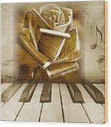 Music Of The Night Wood Print