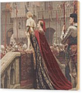 A Little Prince Likely In Time To Bless A Royal Throne Wood Print by Edmund Blair Leighton