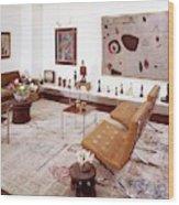 A Living Room Full Of Art Wood Print