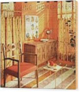 A Living Room With Furniture By Mt Airy Chair Wood Print