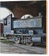 A Locomotive At The Colliery Wood Print