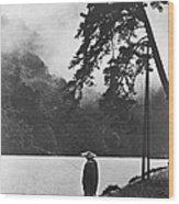A Lone Japanese Fisherman Wood Print