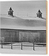 A Long Barn  7k00040b Wood Print