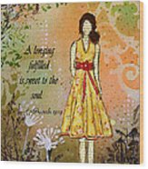 A Longing Fulfilled Wood Print by Janelle Nichol