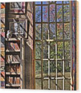 A Look From The Library Wood Print by Susan Candelario