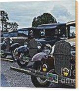 A Lot Of Classic Cars Wood Print