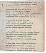 A Love Poem Wood Print