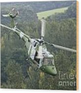 A Lynx Mk 7 Helicopter Wood Print