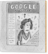 A Magazine Titled Google Magazine Wood Print