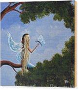 A Magical Daydream Original Artwork Wood Print
